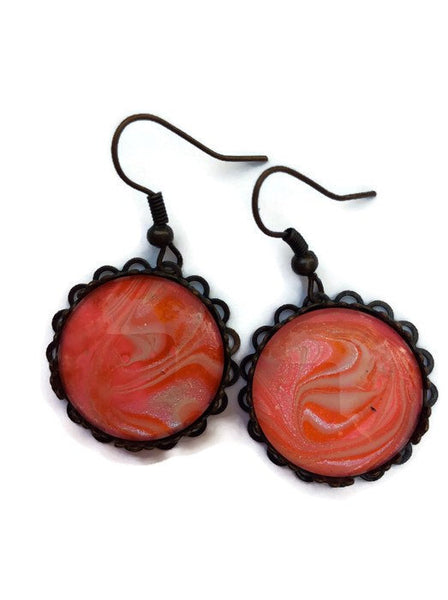Earrings, Pink-Jewelry-Fullamoon Designs