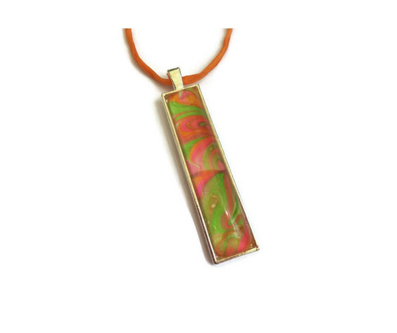Fashion Jewelry Bar Pendant Necklace Sherbet Multicolors