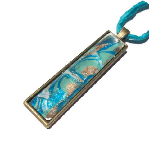 fashion jewelry bar pendant necklace ocean theme