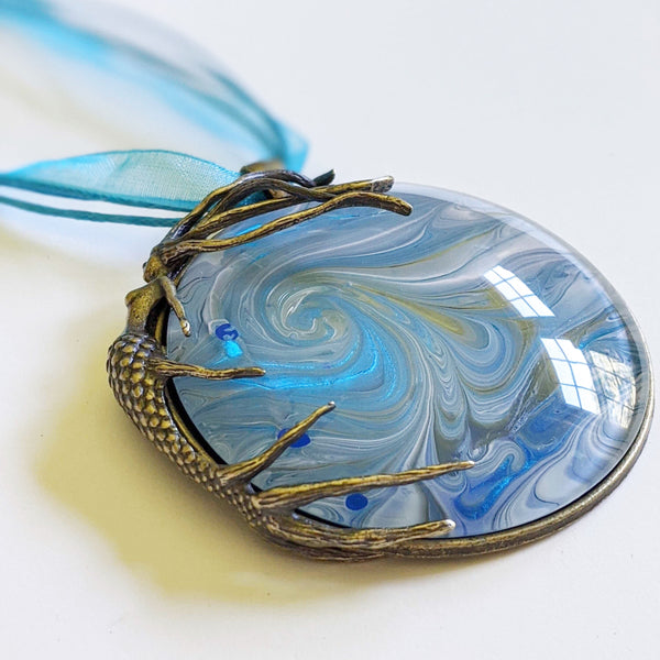 Mega Necklace, Mermaid Riding Wave-Jewelry-Fullamoon Designs