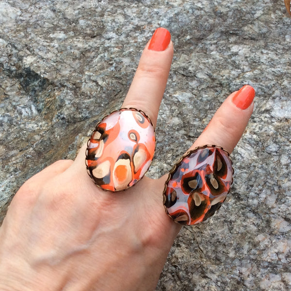 Ring, Leopard Inspired Statement Ring, Safari Style-Jewelry-Fullamoon Designs