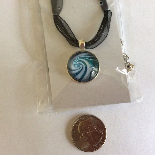 Necklace, Small Ocean Wave Pendant