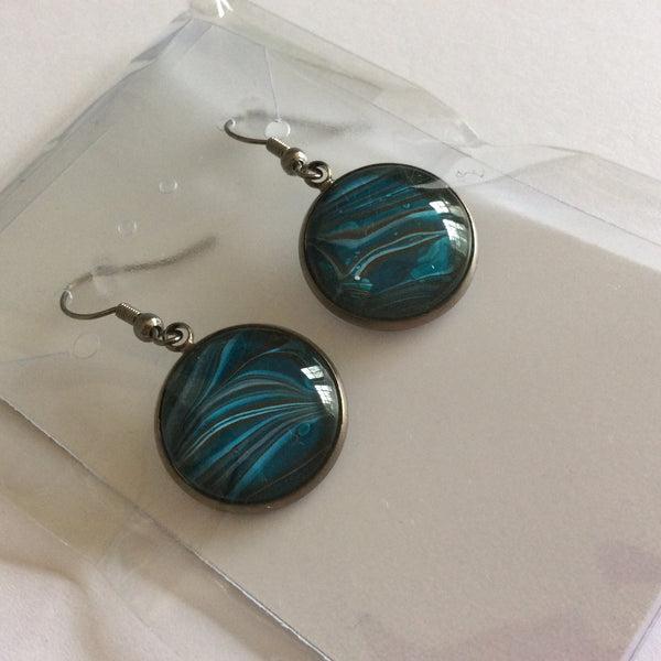 Earrings, Ocean Swells