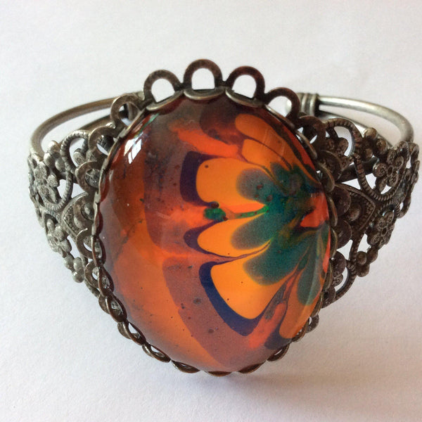 Bracelet, Orange, Blue and Green-Jewelry-Fullamoon Designs