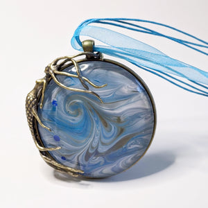 Blue Mermaid Pendant Necklace