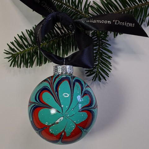 watermarbled ornament