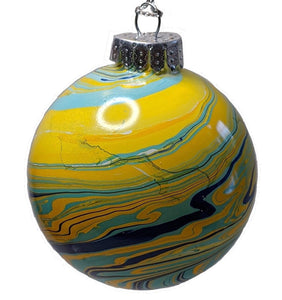 Marbled Glass Ornament, Galaxy-Fullamoon Designs