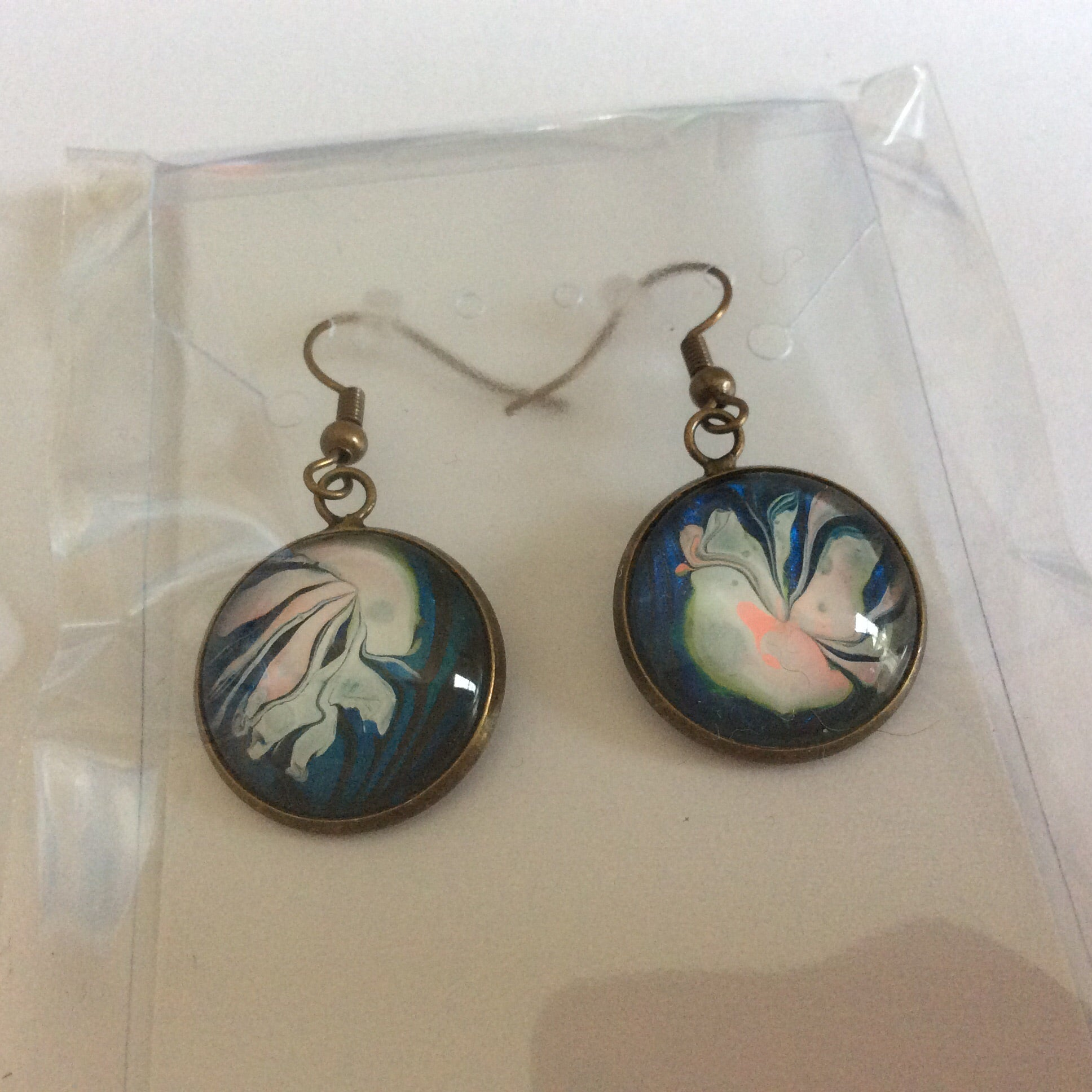 Earrings, Whimsical Jellyfish-Jewelry-Fullamoon Designs
