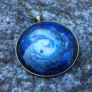 Mega Necklace, Blue Galaxy-Jewelry-Fullamoon Designs
