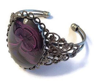 Bracelet, Purple, Blue and Black-Jewelry-Fullamoon Designs