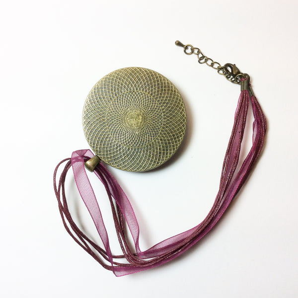 Mega Necklace, Purple Conch Shell-Jewelry-Fullamoon Designs