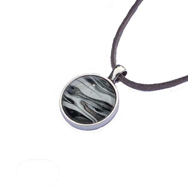 Necklace, Zebra Inspired Safari Pendant-Jewelry-Fullamoon Designs