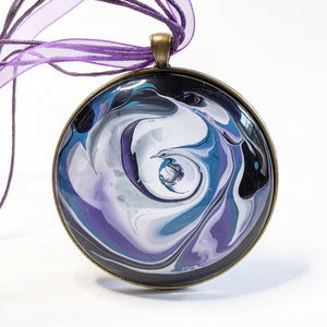 Mega Necklace, Purple and Blue Galaxy