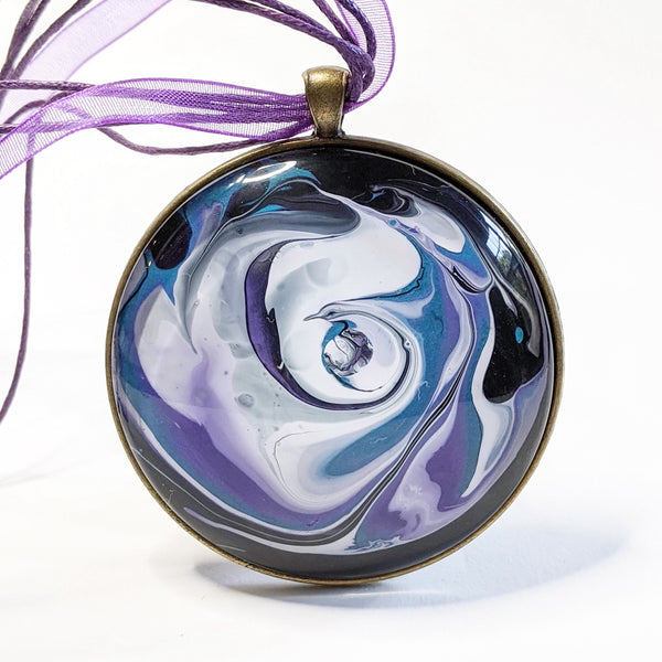Mega Necklace, Purple and Blue Galaxy-Jewelry-Fullamoon Designs