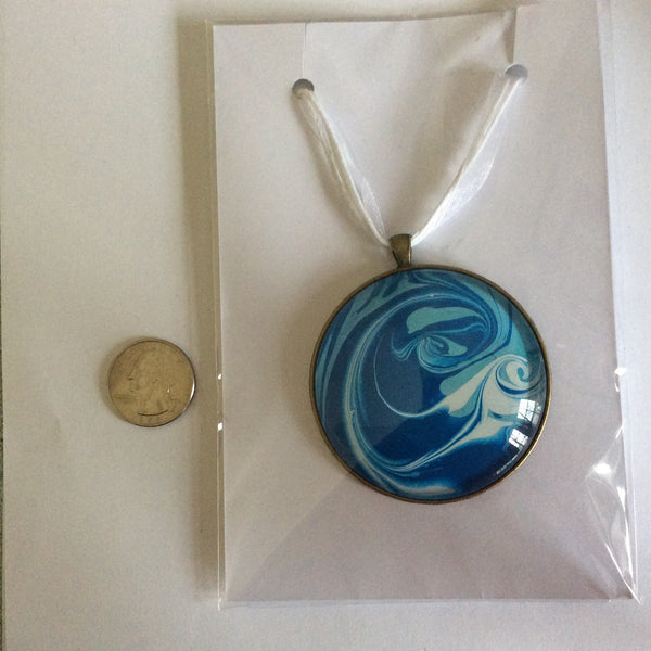 Mega Necklace, Blue Undulating Waves