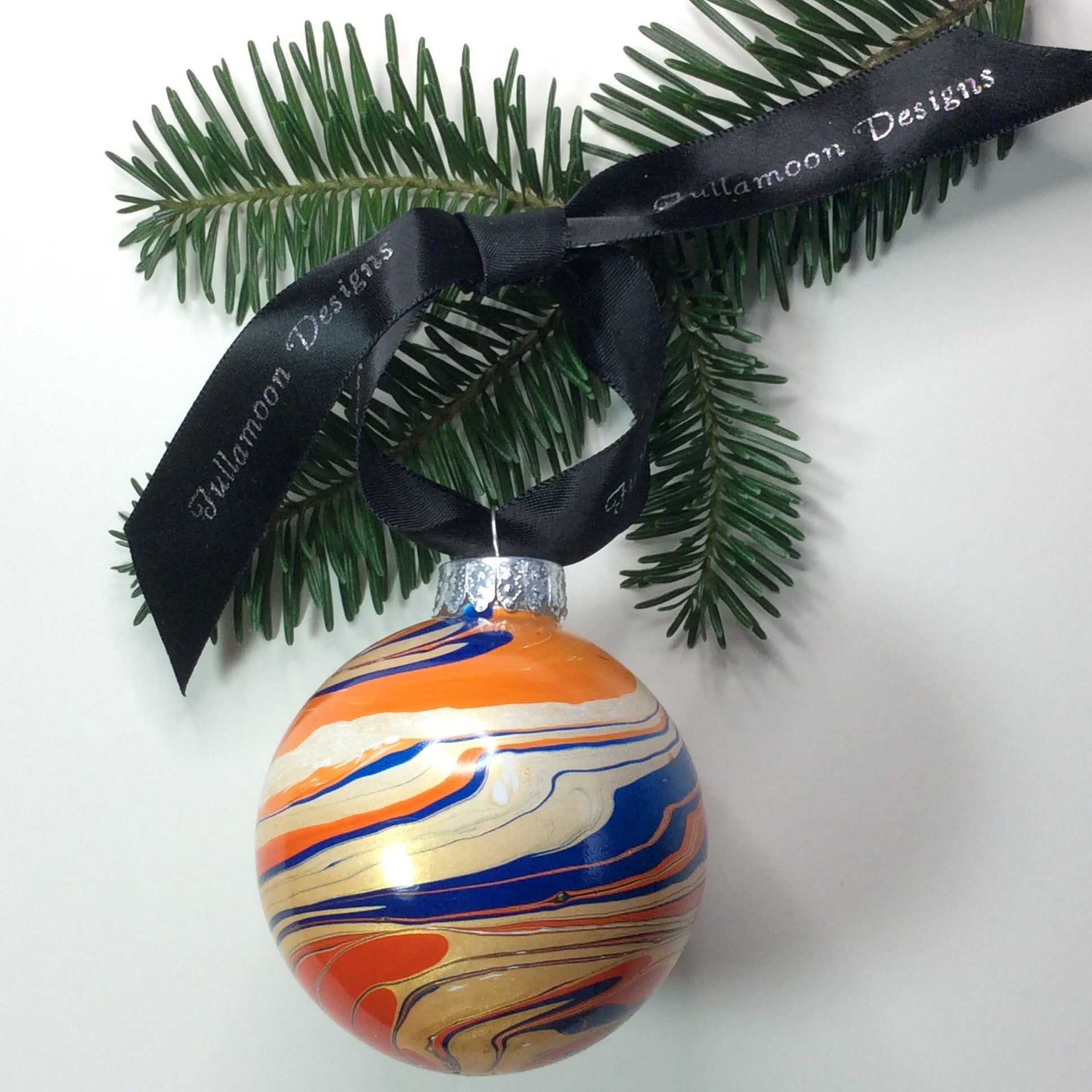 cosmic orange tree ornament