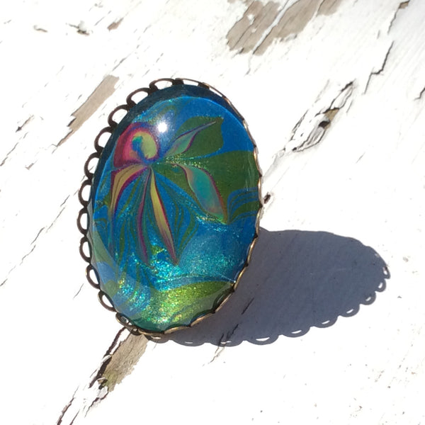 Ring, Ocean Theme, Jellyfish-Jewelry-Fullamoon Designs