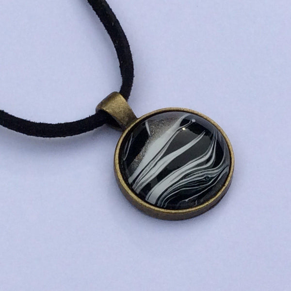 painted zebra necklace