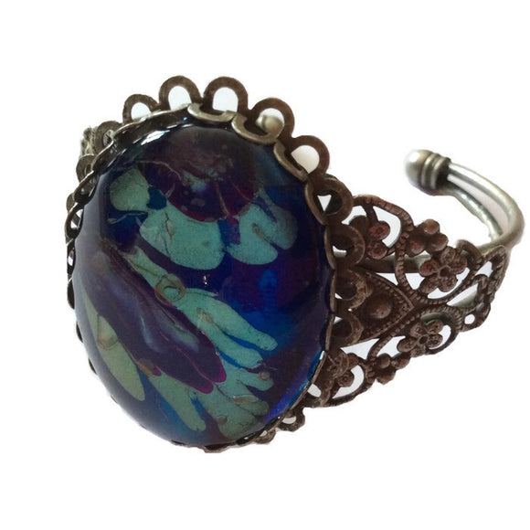 fashion jewelry bracelet blue and purple abstract