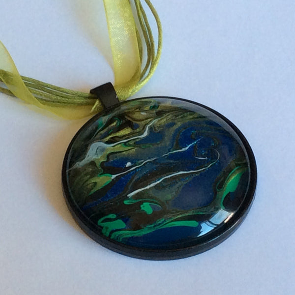 Hand Painted Galaxy Necklace