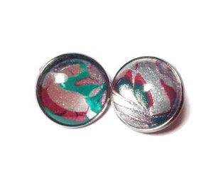 Clip-on Earrings, Christmas Colors-Jewelry-Fullamoon Designs