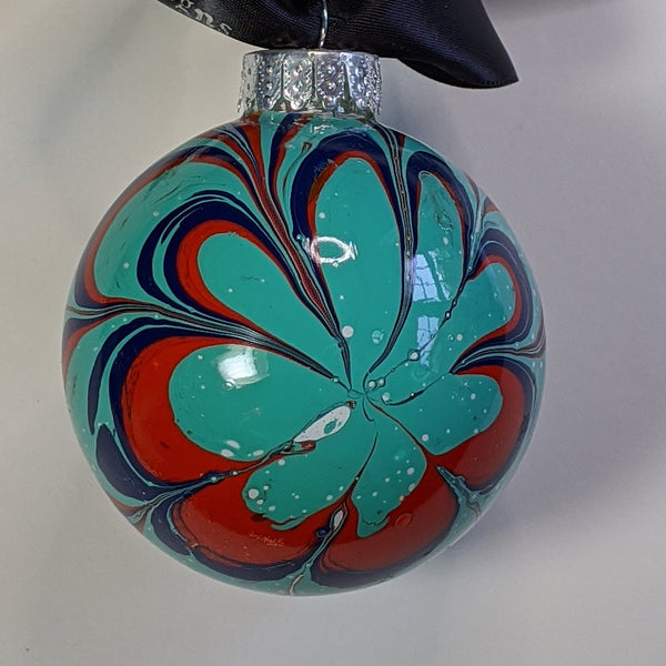 watermarble ornament