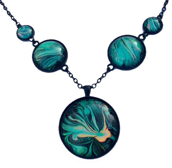 Green Jellyfish Necklace