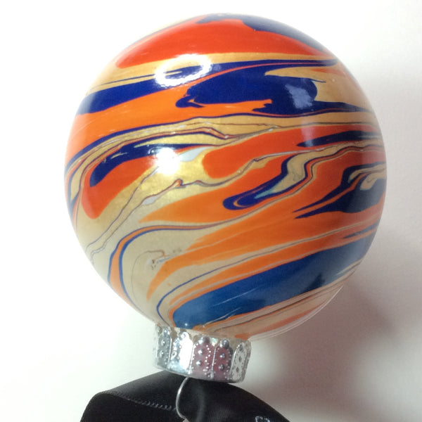 Orange galaxy bauble