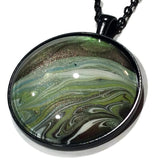 Planet necklace galaxy pendant