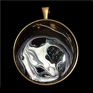 Galaxy Pendant Moon Jewelry