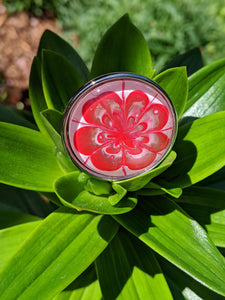 Statement Ring, Peppermint Candy Flower