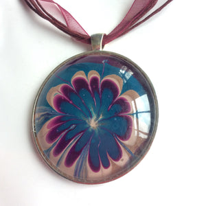 painted flower jewelry