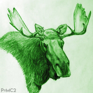 Mystic Moose-Green-Fine Art Prints-Fullamoon Designs