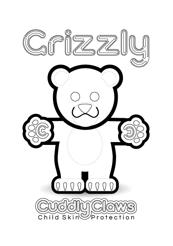 Grizzly Colouring In
