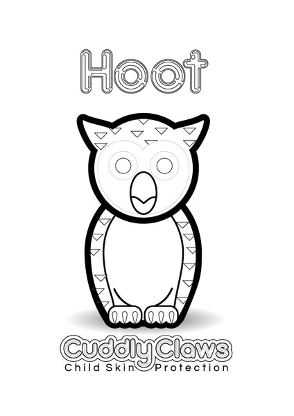 Hoot Colouring In