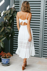 White Peek-A-Boo Summer Dress