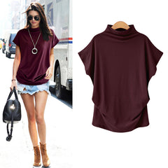 Women Tops Korean Style Fashion Womens Cotton Blouse Short Sleeve O-Neck Blouse Large Size S-7XL Female Blouse