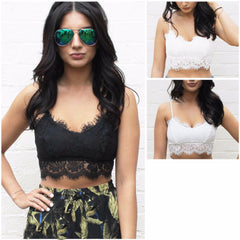 Witchy Boho Lace Bralette Crop-Top