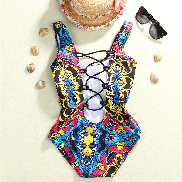 Criss-Cross Back One-Piece