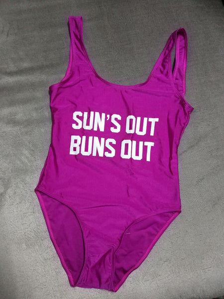 """Sun's Out Buns Out"" Bathing Suit"