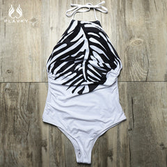 Feather Print One Piece