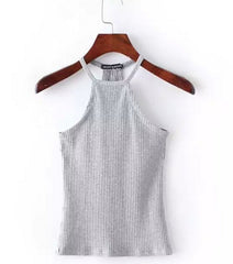 High-Neck Ribbed Tank