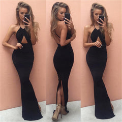 Floor-Length Pencil Dress