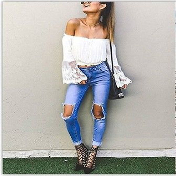 Lace Off-The-Shoulder Blouse