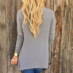 Boho Tasseled Long Sleeve Wrap Blouse