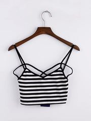 Hippy-Styled Cotton Strappy Bralette Top