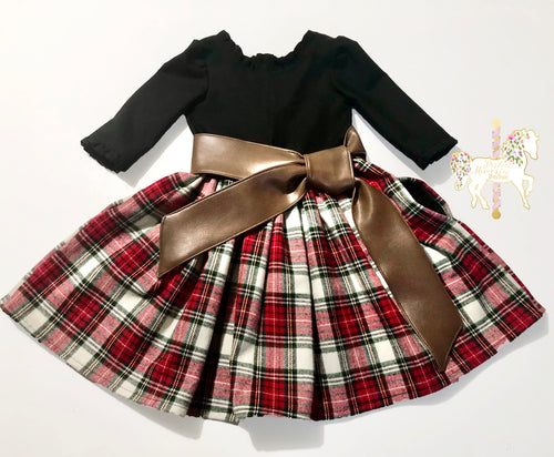 Cozy Plaid Dress - Size 5 RTS