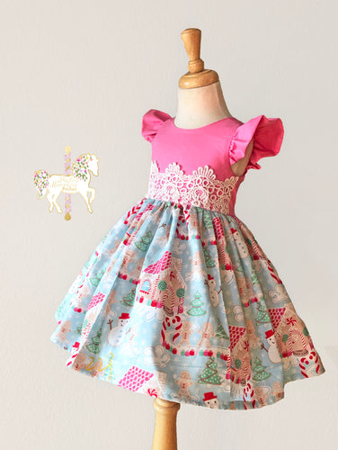 Christmas Candyland Dress - RTS Size 4T