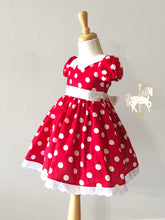 Red Minnie Mouse Fancy Party Dress