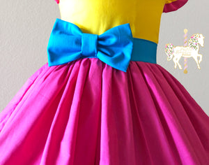 Fancy Nancy Dress - RTS Size 4T